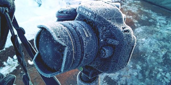 kamera, sníh, mráz, zima